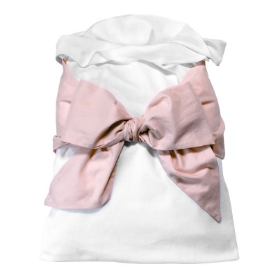 Snuggle Me Swaddle - Cloud with Pale Blush Bow