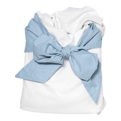 Snuggle Me Swaddle - Cloud with Dusty Blue Bow