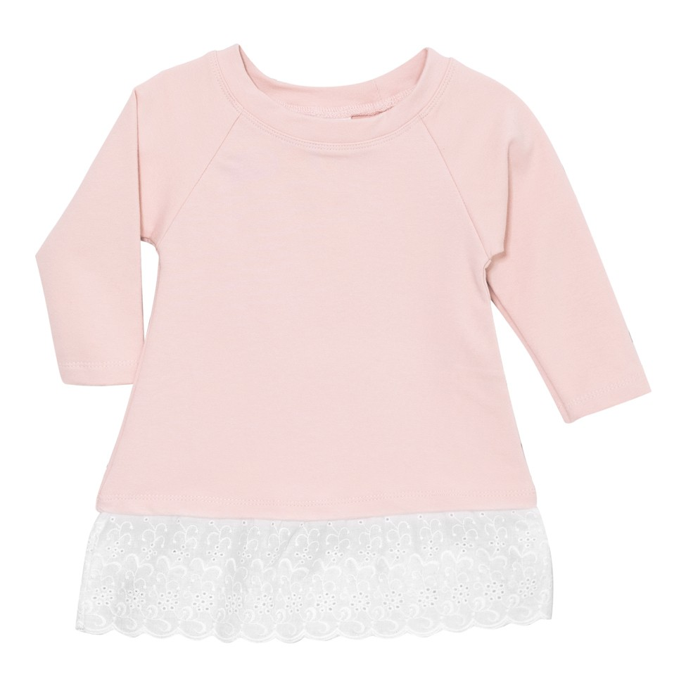 French Terry Raglan Sleeve Top w/ Eyelet Lace