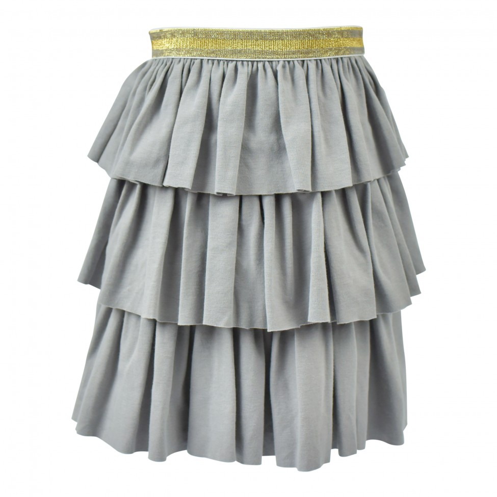 Triple Ruffle Twirl Skirt