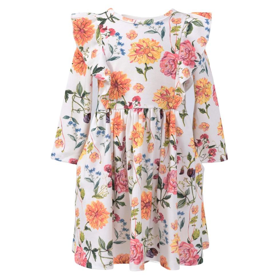 Long Sleeve Flutter Twirl Dress