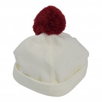 Interlock Cap with Pom Pom