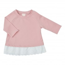 Sweatshirt with Eyelet Trim