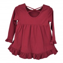 Ruffled Hi Low Hem Top