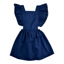 Flutter Sleeve Pinafore Dress