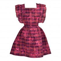Flutter Sleeve Pinafore Dress
