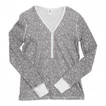 Women's Henley Pajama Top - Final Sale