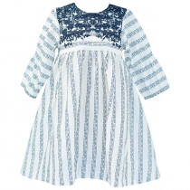 3/4 Sleeve Embroidery Dress