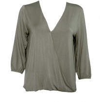 Drapey Cross-front Hi-Lo Top