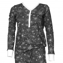 Ladies Henley Pajama Top
