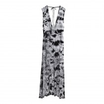 Womens Maxi Tie Neck Dress
