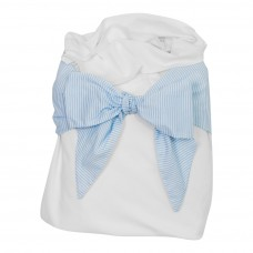 Snuggle Me Swaddle - Baby Blue Pinstripe