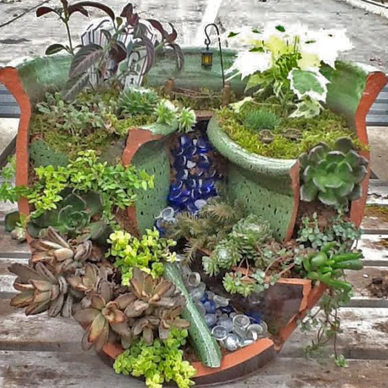 Pink Elephant Fairy Garden Craft Elsie's Corner
