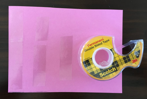 Use double sided tape