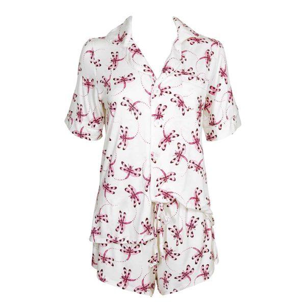 Dragonfly Women's Short Sleeve Pajama Set