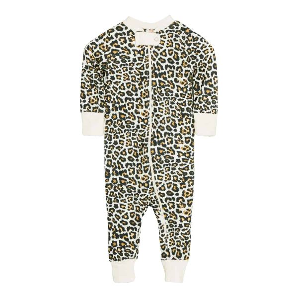 Wild Side Full Zip Footless Pajama